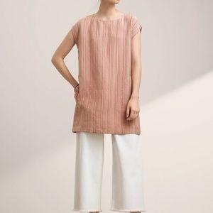 Aritzia Sz M Wilfred Blondelle Dress Linen Pink